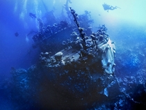 The wreck of a Russian surveillance vessel in the Red Sea by ghstdot