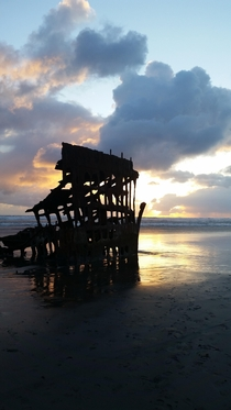 The wreck of the Peter Iredale at Fort Stevens State Park Warrenton OR