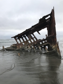 The wreck of the Peter Iredale Fort Stevens State Park in Oregon