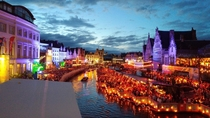 The yearly -day long festival of Ghent Belgium