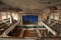 Theater of an abandoned high school in Philadelphia
