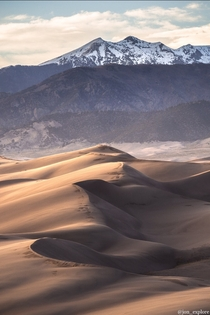 Their appearance was exactly that of the sea in a storm except as to color - Gen Zebulon Pike Great Sand Dunes National Park USA