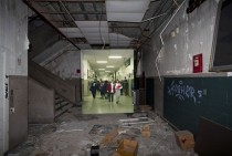 Then-and-Now Photos of Abandoned Detroit School Overlaid