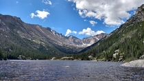 There are a lot better pictures of Mills Lake on here than this one but I fell in love with this place Rocky Mountain National Park CO