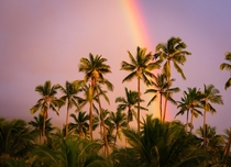 There is a reason it is called the land of rainbows Puuhonua o Hnaunau Hawaii
