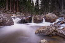 Theres gems everywhere in Colorado A little waterfall somewhere in the backcountry