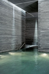 Thermal Baths in Vals Switzerland by Peter Zumthor