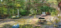 These abandoned dodgems in Pripyat near Chernobyl