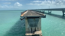 These abandoned sections next to the Overseas Highway roads to nowhere