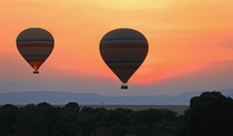 These balloons over The Mara  Kenya OC