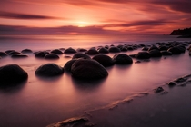 These boulders reveal themselves in northern California when the tide is out Ideally that coincides with a vibrant sunset for a beautiful landscape  IG caseymac