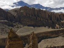 These cliffs near Chussang Mustang Nepal  x