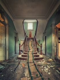 These stairs once heard the patter of childrens feet and peals of laughter Now they slowly decay in silence Photo by Matthias Haker
