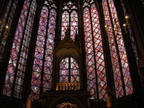 These windows have remained mostly intact since  - lasting through flooding fires the French Revolution and both World Wars The stain glass of Sainte-Chapelle
