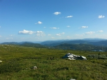 They say you can see all the way to Sweden on a clear day -- from the base of Gaustatoppen Norway