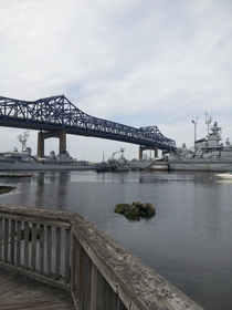 They told me to post this picture here I didnt know of this subreddit Battleship Cove bridge Fall RiverMA