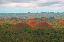 They wont satisfy your sweet tooth but the Chocolate Hills of the Philippines contain marine fossils tht are millions of years old