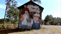 This abandoned barn had a Pokemon mural which is also a poke stop
