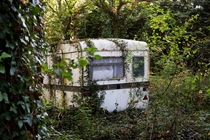 This abandoned caravan I found in the woods UKOC