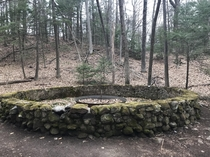 This abandoned fountain was the first in the nation to be powered by electricity Suburban Park in Unionville CT was open from - and eventually was left to disappear in the woods