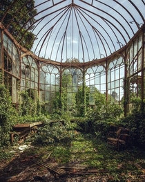 This abandoned greenhouse