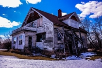 this abandoned home in South East Alberta It was fairly intact and as if the previous owners just got up dissapeared and never returned