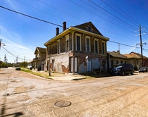 This abandoned home in the th ward Trem neighborhood New Orleans