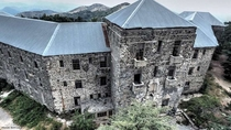 This abandoned hotel called Verengaria build in  located in the mountains of Troodos Cyprus now considered haunted after many reports by tourists allegedly hearing screams and seeing shadows moving around