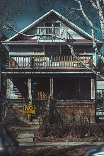 This abandoned house in Edmonton reminded me a lot of Michael Myers house in Halloween