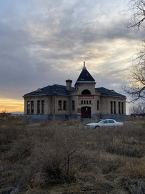 This abandoned schoolhouse in Deseret UT