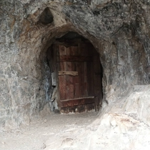 This air control door at the entrance to an abandoned mine in Utah This mine was multi-level they used air doors to control airflow throughout the mine Whoever says mines dont have natural ventilation is lying