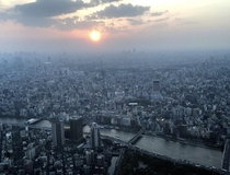 This Amazing photo is not even showing a small portion of this unbelievably huge city a sea of buildings in every direction Almost  million people Tokyo Japan