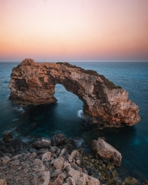 This arch off the coast of Mallorca Spain  IG travelfreak