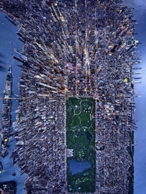 This arial view of New York City