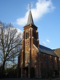 This authentic magnificent Belgian church typical yet beautiful architecture