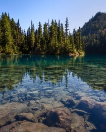 This blue-green water is not only crystal clear but bone numbingly cold Lake Constance Washington USA