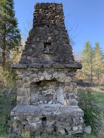 This chimney is all thats left of old farmhouse near Eugene OR