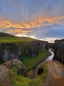 This country is absolutely awe-inspiring Fjarrgljfur Iceland