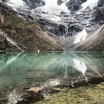 This crystal clear lake at the base of Mt Salkantay in Peru really took my breath away