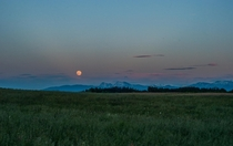 This evenings moonrise over the Bavarian Alps