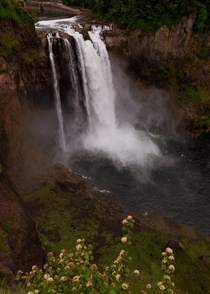 This  ft waterfall is right in the middle of a town Snoqualmie Falls Washington