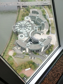 This government building seen from the Rhine tower in Dsseldorf Germany