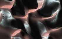 This high-resolution close-up of the Martian surface had been recorded by HiRISE camera Credit NASA MRO LPL