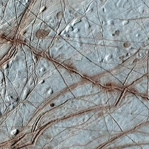 This image from NASAs Galileo mission in the s offers a clouse-up view of the complex terrain of Jupiters moon Europa