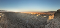 This image is a seven-shot stitch panorama and a pain to edit on my aging PC in the ned worth it though Fonts point at Anza Borrego Desert California