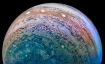 This image of Jupiter was taken by Juno on December  and then processed by David Marriott