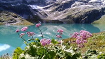 This incredibly blue lake is actually called White lake for some reason Austrian Alps