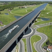 This insane bridge made for ships in Belgium