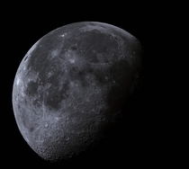 This is a  megapixel photo of the Moon I took from last night