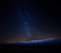 This is a picture I took of the milky way above the lavender fields